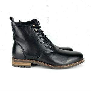 Dr. Scholl's Cavalry Zip Modern Combat Leather Boots Black Size 12